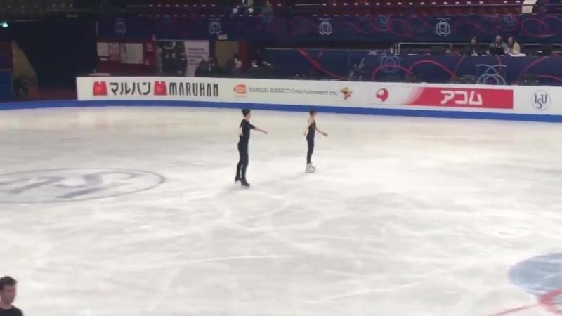Ryom/Kim practice Worlds-2018 Milano