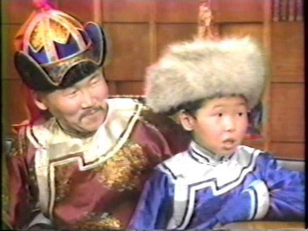 Kongar ol Ondar with Bady Dhorzhu Ondar on the Chevy Chase Show 1993