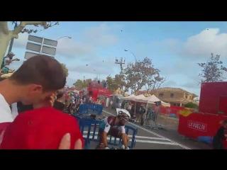 Vuelta a Espana 2018. Stage 6. Crash