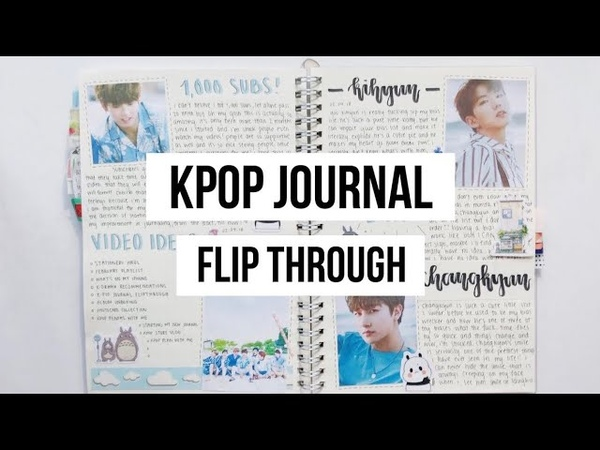 K Pop Journal Flip Through Old New Journal