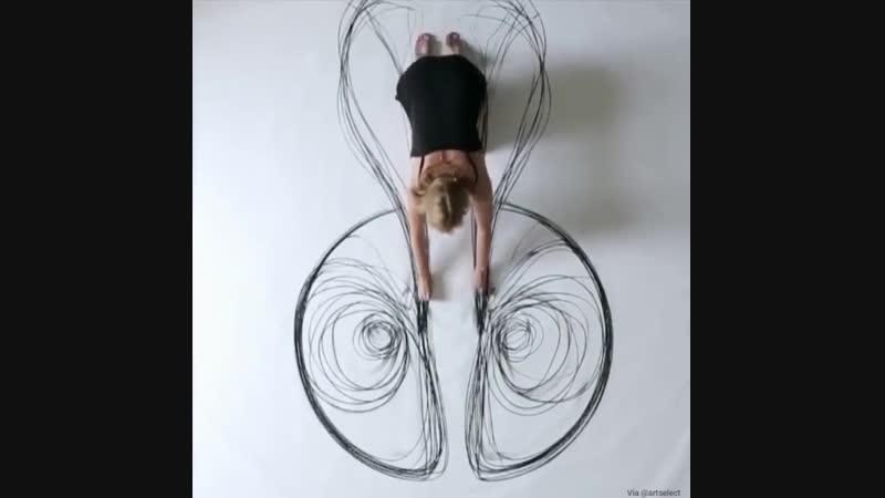 Рисунок собственным телом