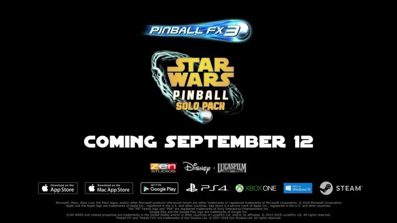 Три стола по фильму Хан Соло. Звёздные войны Истории для игры Pinball FX3!