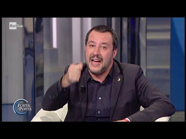 Matteo Salvini sull'immigrazione - Porta a porta 29/11/2018