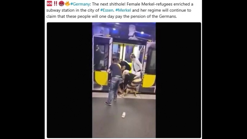 Germany: The next shithole! Female Merkel-refugees enriched a subway station in the city of Essen. Merkel and her regime will