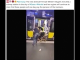 Germany The next shithole! Female Merkel-refugees enriched a subway station in the city of #Essen. #Merkel and her regime will