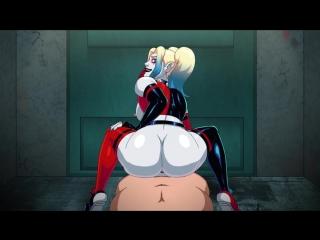 Arkham assylum - haley queen - hentai parody