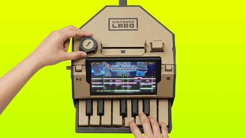 Using the Nintendo Labo Piano to Make Music