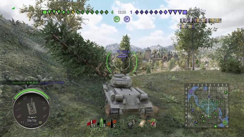 World of Tanks PS4 Т-34-85 захочешь дамажки и не так раскорячишься