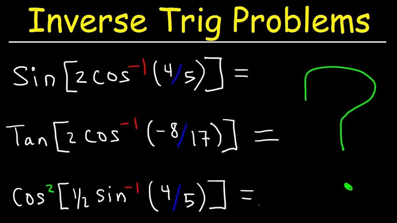 Inverse Trig Functions With Double Angle Formulas and Half Angle Identities - Trigonometry