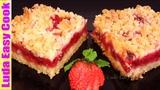 Очень Простой Насыпной Пирог с Клубникой На Раз, Два, Три How to Make Easy Strawberry Cake