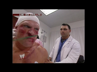 WWE Monday Night Raw 2003.10.13 - Shane McMahon challeged Kane (he is in the hospital) to a match at Survivor Series