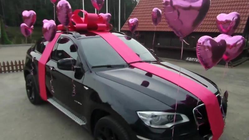 Бант и шары на машину!