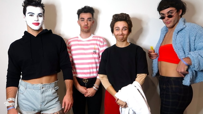 DRESSING UP AS EACHOTHER ft Dolan Twins James Charles