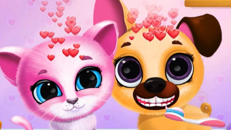 Fun Pet Care Kids Game - Kiki Fifi Pet Friends - Furry Kitty Puppy Care Games For Girls