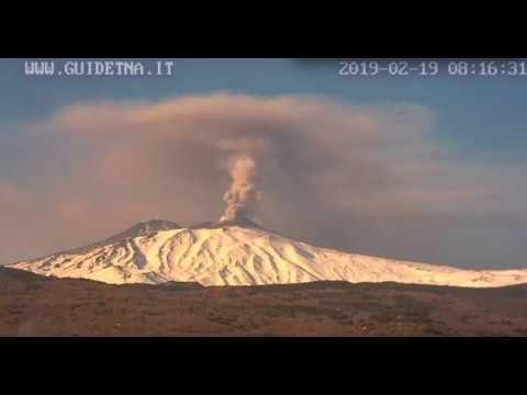 February 19, 2019 ~ Mount Etna, Italy ~ Heavy Exhalation