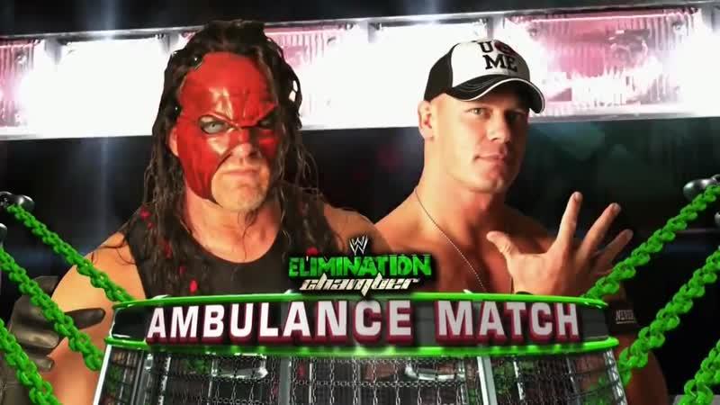 WWE Mania Elimination Chamber 2012 kane vs John Cena Ambulance Match