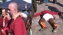 Пьяному быдляку и лузеру Климу Жукову дали в морду и он упал