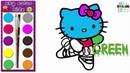 Wie man Hallo Miezekatze für Kinder zeichnet - Malbuch für kinder   Sky color kids