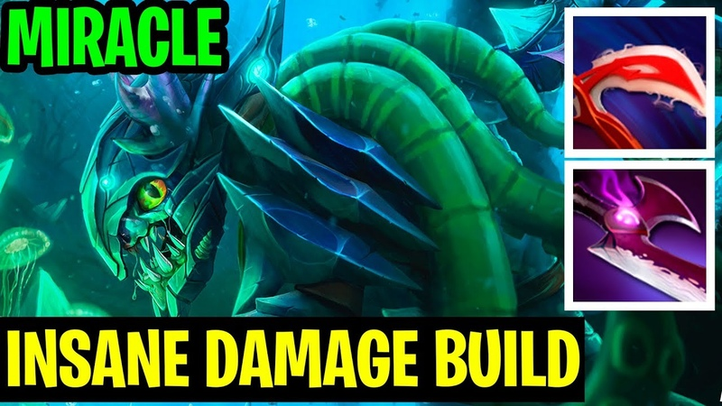 Insane Build Damage - Miracle- Slark - Dota 2