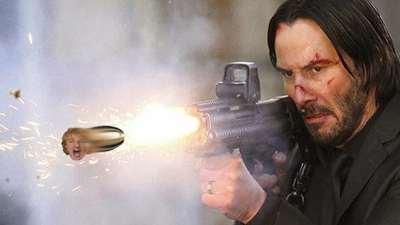 Keanu Reeves Movies But Every Gunshot Is Owen Wilson Saying Wow