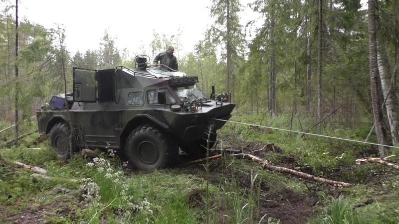 БРДМ-2 ДОМИНАТОР-М использует лебедку