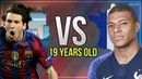 Lionel Messi Vs Kylian Mbappe At Age Of 19 - Ultimate Goals,Skills,Dribblling HD