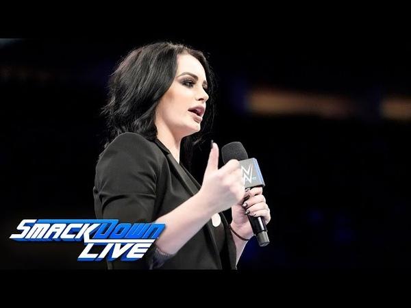 Paige opens SmackDown ready to fire Samoa Joe SmackDown LIVE Oct 2 2018