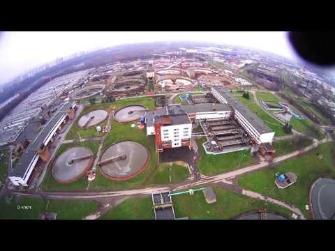 Полёт над очистными сооружениями в Курьяново
