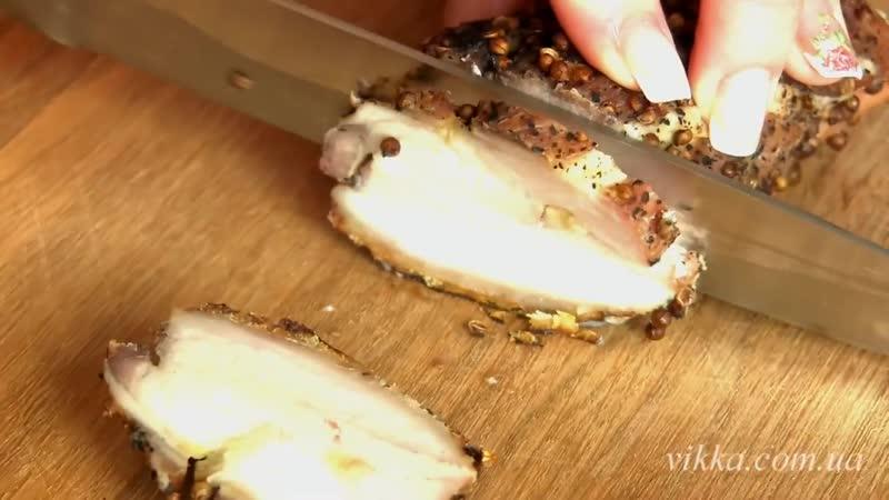 Подчеревок запеченный в духовке с кориандром и чесноком