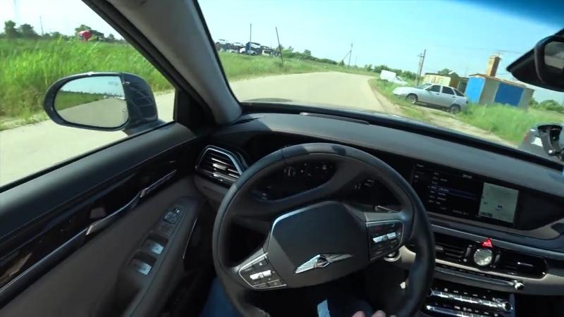 Genesis G90 2018 3 3 370hp Acceleration 0 100 Racelogic Разгон Генезис Г90 3 3L T GDI 8AT 4WD