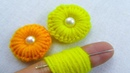Hand Embroidery, Amazing Trick, Easy Flower Embroidery Trick, Sewing Hack, Crafts Embroidery