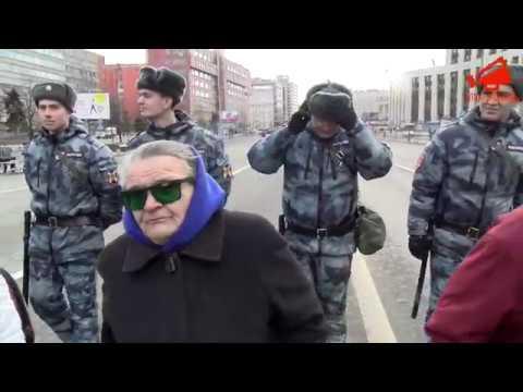 Женщины после митинга в Москве «Нигде не дают жизни, на своей земле мы рабы!»