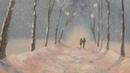 Зимний пейзаж маслом по фотографии с Татьяной Букреевой