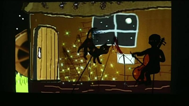 Виолончелист Госю - теневой спектакль「セロ弾きのゴーシュ」