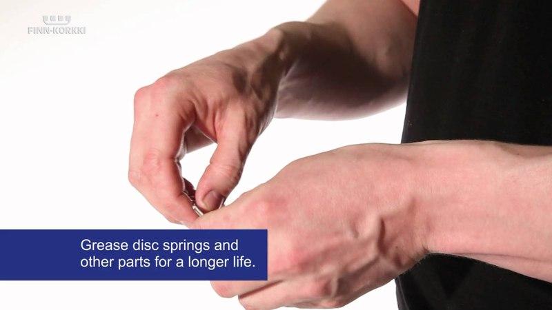Finn-Korkki ring pull sealing head maintenance