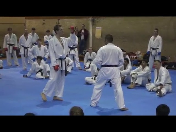 WKF: how to get 3 point in Kumite by new Throwing Techniq (ashi barai techniques) By junior lefevre.
