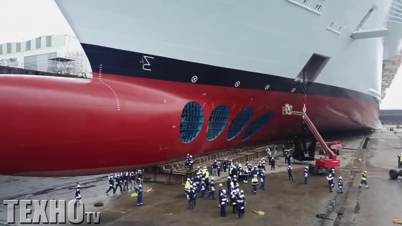 Впечатляет Мега суда Корабль гигант Мощное плавсредство с новейшим оборудованием