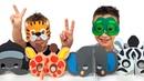 ELC Маски Зверей собираем и играем Развивающее Видео Распаковка набора Видео для Детей