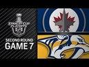 Winnipeg Jets vs Nashville Predators-May. 10, 2018 Game 7 Stanley Cup 2018. Обзор