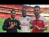 Indian cricket stars KL Rahul & Umesh Yadav visit Emirates Stadium