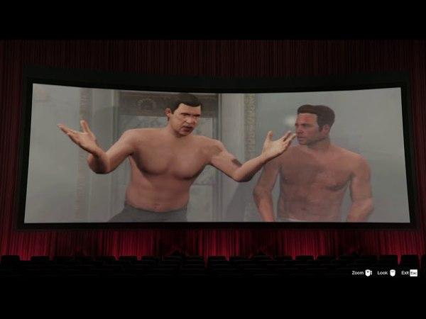 GTA V - Hang Out with Friend (Cinema, Strip Club, Bar)