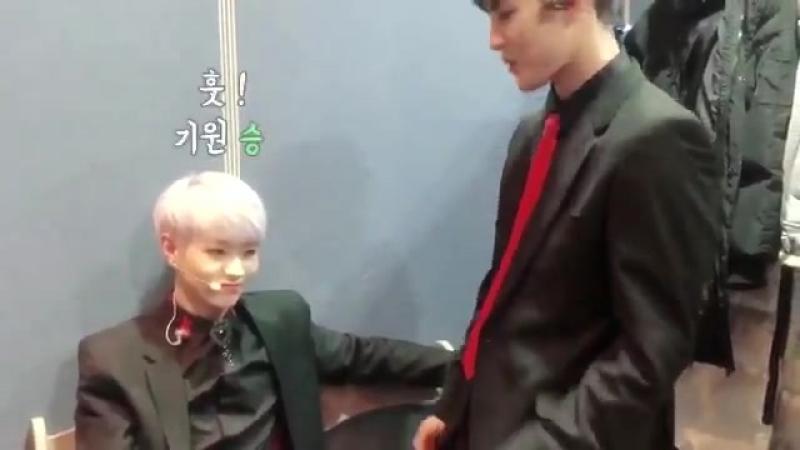 [미공개레인즈] - - 뽀짝즈의 - - 레인즈 RAINZ - 기원 성혁 - 레인저_즐거운_주말_보내세요