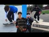 @versace_plug &amp @seoul_air instagram skate videos (Hyun &amp Jun Kummer)