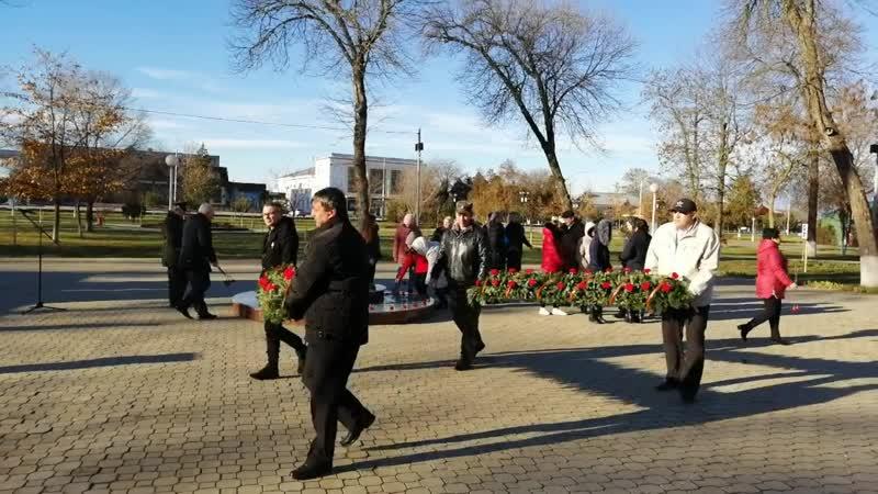 Возложение цветов в станице Полтавской 09.12.2018