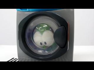 Малыш Ам Ням и стиральная машина