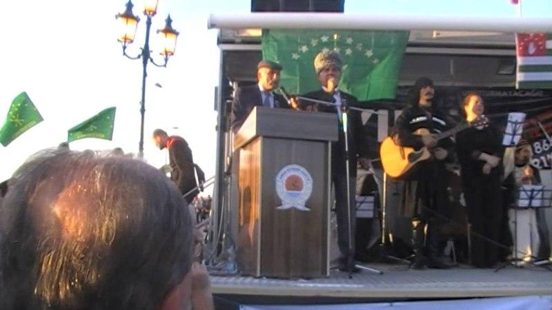 Мухамед Черкесов. г Самсун, Турция. Митинг 21 мая в день памяти и скорби черкесского народа