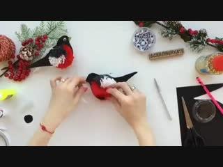 Делаем красиво снегиря своими руками