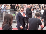 Tom Cruise and Rebecca Ferguson on the red carpet for the Premiere of Mission Impossible Fallout in