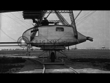 LZ-127 Graf Zeppelin in flight and LZ-126 ZR-3 airship being positioned...HD Stock Footage