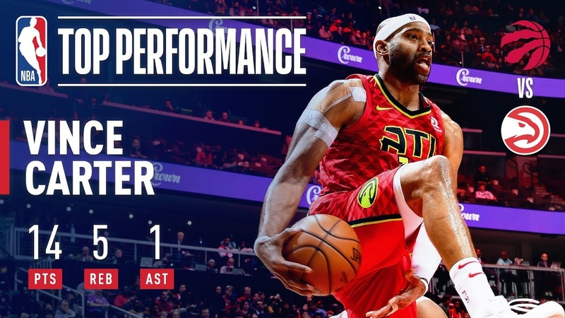 Vince Carter Surpasses 25,000 Career Points with a SLAM! | November 21, 2018 NBANews NBA Hawks VinceCarter